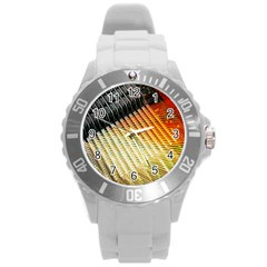 Technology Circuit Round Plastic Sport Watch (l) by BangZart