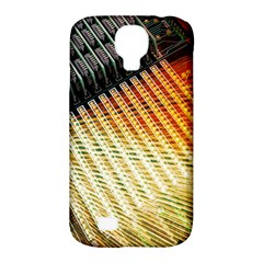 Technology Circuit Samsung Galaxy S4 Classic Hardshell Case (pc+silicone) by BangZart