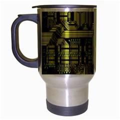 Technology Circuit Board Travel Mug (silver Gray) by BangZart