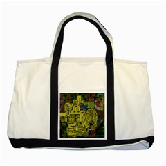 Technology Circuit Board Two Tone Tote Bag by BangZart