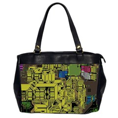 Technology Circuit Board Office Handbags (2 Sides)  by BangZart