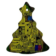 Technology Circuit Board Ornament (christmas Tree)  by BangZart