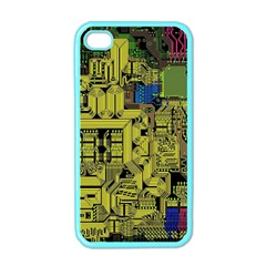 Technology Circuit Board Apple Iphone 4 Case (color) by BangZart
