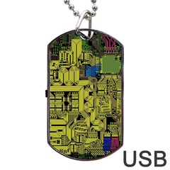 Technology Circuit Board Dog Tag Usb Flash (two Sides) by BangZart