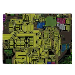 Technology Circuit Board Cosmetic Bag (xxl)  by BangZart