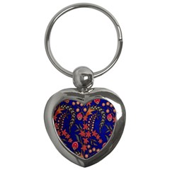 Texture Batik Fabric Key Chains (heart)  by BangZart