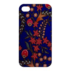 Texture Batik Fabric Apple Iphone 4/4s Premium Hardshell Case by BangZart