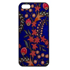 Texture Batik Fabric Apple Iphone 5 Seamless Case (black) by BangZart