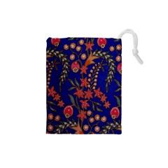 Texture Batik Fabric Drawstring Pouches (small)  by BangZart