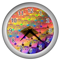 Technology Circuit Pentium Die Wall Clocks (silver)  by BangZart