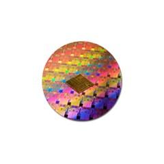 Technology Circuit Pentium Die Golf Ball Marker by BangZart
