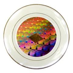 Technology Circuit Pentium Die Porcelain Plates by BangZart