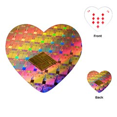 Technology Circuit Pentium Die Playing Cards (heart)  by BangZart