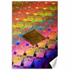 Technology Circuit Pentium Die Canvas 20  X 30   by BangZart