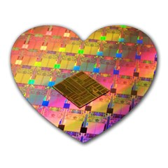 Technology Circuit Pentium Die Heart Mousepads by BangZart