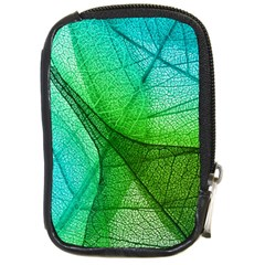 Sunlight Filtering Through Transparent Leaves Green Blue Compact Camera Cases by BangZart