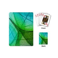Sunlight Filtering Through Transparent Leaves Green Blue Playing Cards (mini)  by BangZart