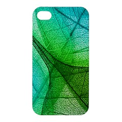 Sunlight Filtering Through Transparent Leaves Green Blue Apple Iphone 4/4s Hardshell Case by BangZart