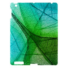 Sunlight Filtering Through Transparent Leaves Green Blue Apple Ipad 3/4 Hardshell Case by BangZart