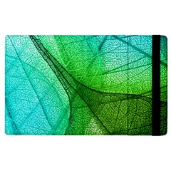 Sunlight Filtering Through Transparent Leaves Green Blue Apple Ipad 2 Flip Case by BangZart