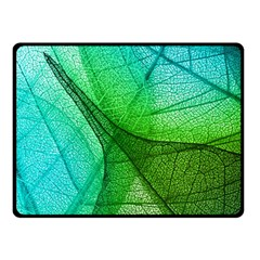 Sunlight Filtering Through Transparent Leaves Green Blue Double Sided Fleece Blanket (small)  by BangZart