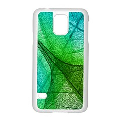 Sunlight Filtering Through Transparent Leaves Green Blue Samsung Galaxy S5 Case (white) by BangZart