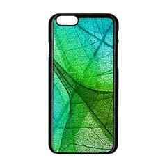 Sunlight Filtering Through Transparent Leaves Green Blue Apple Iphone 6/6s Black Enamel Case by BangZart