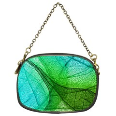 Sunlight Filtering Through Transparent Leaves Green Blue Chain Purses (one Side)  by BangZart