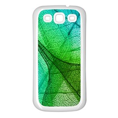 Sunlight Filtering Through Transparent Leaves Green Blue Samsung Galaxy S3 Back Case (white) by BangZart