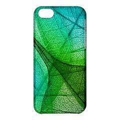 Sunlight Filtering Through Transparent Leaves Green Blue Apple Iphone 5c Hardshell Case by BangZart