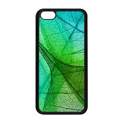 Sunlight Filtering Through Transparent Leaves Green Blue Apple Iphone 5c Seamless Case (black) by BangZart