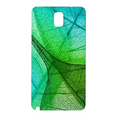 Sunlight Filtering Through Transparent Leaves Green Blue Samsung Galaxy Note 3 N9005 Hardshell Back Case