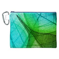 Sunlight Filtering Through Transparent Leaves Green Blue Canvas Cosmetic Bag (xxl) by BangZart