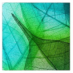Sunlight Filtering Through Transparent Leaves Green Blue Large Satin Scarf (square) by BangZart