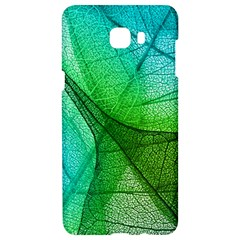Sunlight Filtering Through Transparent Leaves Green Blue Samsung C9 Pro Hardshell Case  by BangZart