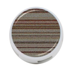 Stripy Knitted Wool Fabric Texture 4 Port Usb Hub (two Sides)  by BangZart