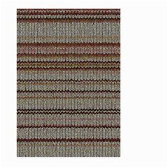 Stripy Knitted Wool Fabric Texture Large Garden Flag (two Sides) by BangZart