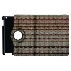 Stripy Knitted Wool Fabric Texture Apple Ipad 2 Flip 360 Case by BangZart