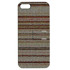 Stripy Knitted Wool Fabric Texture Apple Iphone 5 Hardshell Case With Stand by BangZart