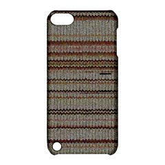 Stripy Knitted Wool Fabric Texture Apple Ipod Touch 5 Hardshell Case With Stand by BangZart