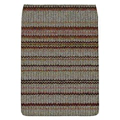 Stripy Knitted Wool Fabric Texture Flap Covers (s)  by BangZart
