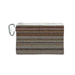 Stripy Knitted Wool Fabric Texture Canvas Cosmetic Bag (s) by BangZart