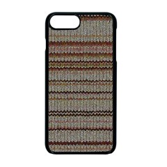 Stripy Knitted Wool Fabric Texture Apple Iphone 7 Plus Seamless Case (black) by BangZart