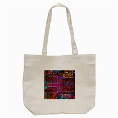 Technology Circuit Board Layout Pattern Tote Bag (cream) by BangZart