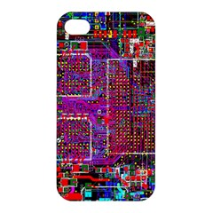 Technology Circuit Board Layout Pattern Apple Iphone 4/4s Hardshell Case by BangZart