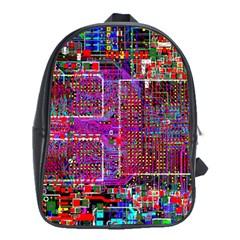Technology Circuit Board Layout Pattern School Bags (xl)  by BangZart