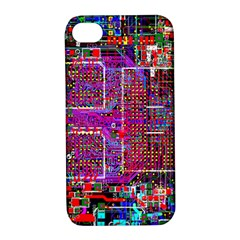 Technology Circuit Board Layout Pattern Apple Iphone 4/4s Hardshell Case With Stand by BangZart