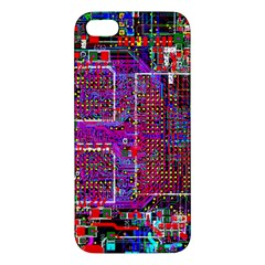 Technology Circuit Board Layout Pattern Apple Iphone 5 Premium Hardshell Case by BangZart
