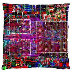 Technology Circuit Board Layout Pattern Standard Flano Cushion Case (two Sides) by BangZart
