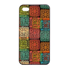 Stract Decorative Ethnic Seamless Pattern Aztec Ornament Tribal Art Lace Folk Geometric Background C Apple Iphone 4/4s Seamless Case (black) by BangZart